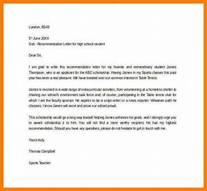 Letter Of Recommendation For College Admission Template 5 Recommendation Letter For Scholarship From Teacher