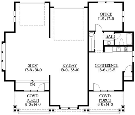 garage with living quarters floor plans rv garage plan with living quarters 23243jd 1st floor