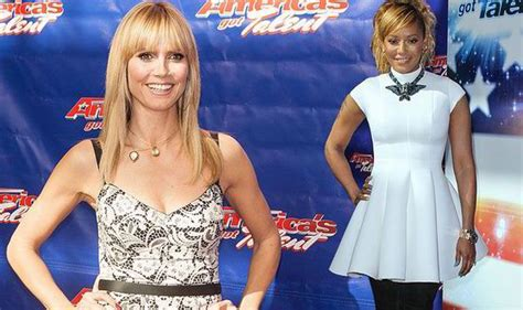Mel Covers While Heidi Klum Shows Off Her Cleavage