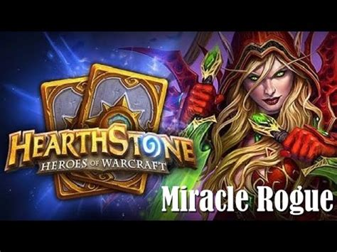 Hearthstone  Miracle Rogue Deck  Cheap Standard Deck For