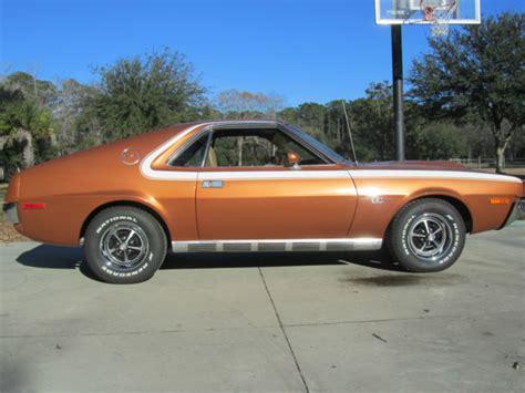 1970 amc amx 390 go pack ram air bittersweet orange with c