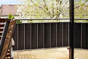 Balkon Sichtschutz Rattan : gartenfreude polyrattan sichtschutz balkon matte oder zaun 3 x 0 9 m zuschneidbar ~ Markanthonyermac.com Haus und Dekorationen