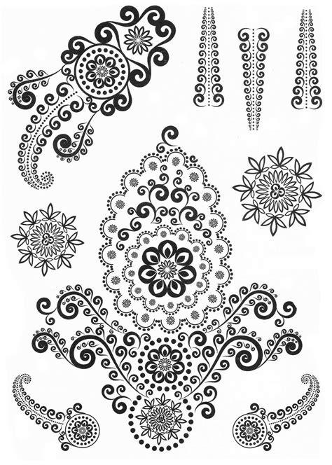1 Sheet Of Black Henna & Lace Temporary Tattoos Body Art