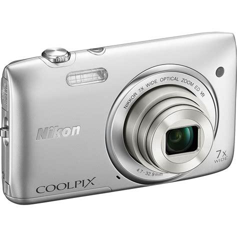 nikon coolpix nikon coolpix s3500 digital silver 26361 b h photo Nikon Coolpix