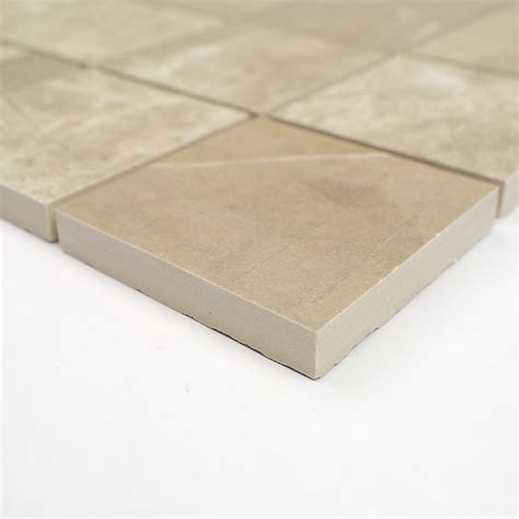 3x3 Glazed Ceramic Tile by Pamesa Kashmir 3x3 Taupe Mosaic Porcelain Tile Tilebar