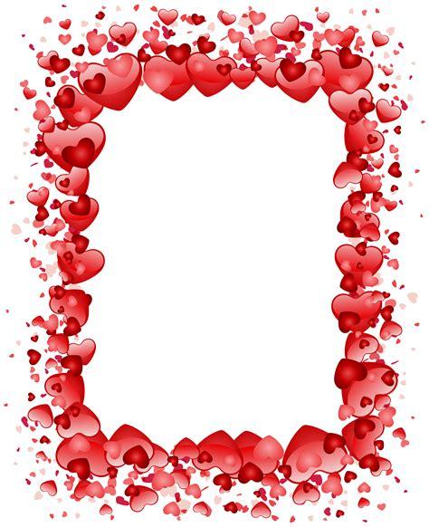 Valentine's Day Hearts Border Transparent PNG Clip Art ...