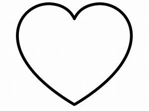 White Heart With Black Outline clip art - vector clip art ...