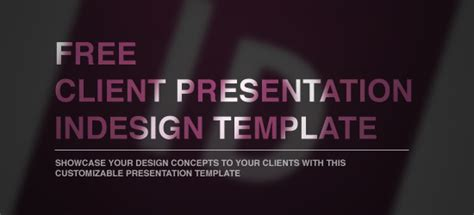 Free Client Presentation Indesign Template