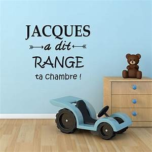 Range Ta Chambre : sticker jacques a dit range ta chambre stickers ~ Melissatoandfro.com Idées de Décoration