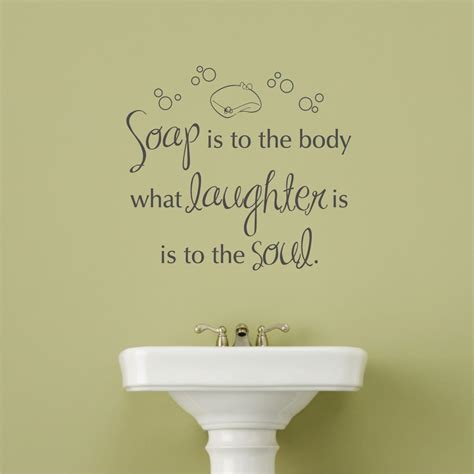 soap  laughter wall quotes decal wallquotescom