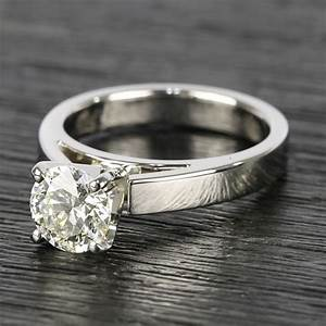 Flat Cathedral Round Diamond Solitaire Ring 1 19 Ct