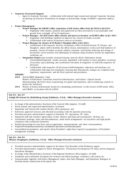 Housekeeping Manager Sle Resume by Housekeeping Description For Resume Ideas