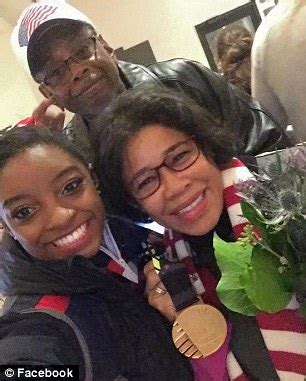 Simone Biles and Her Grandparents