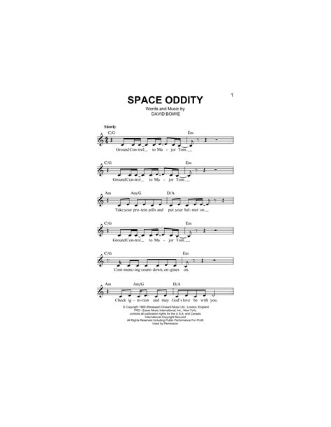 Space Oddity Piano Chords Gallery Chord Guitar Finger Position
