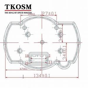 Compre Tkosm Koso Motorcycle Digital Lcd Gauge Veloc U00edmetro