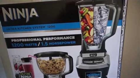 ninja ultra kitchen system  unboxing  review
