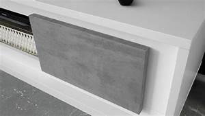 Tv Lowboard Beton : lowboard sky tv board in wei matt und beton mit softclose ~ Indierocktalk.com Haus und Dekorationen
