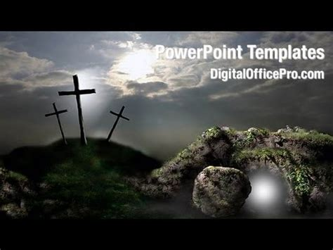 resurrection  jesus powerpoint template backgrounds