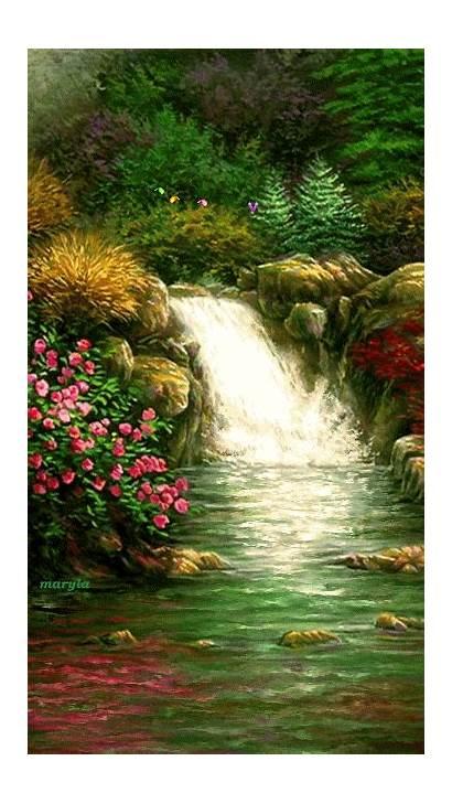 Waterfall Places Gifs Waterfalls Scenery Nature Animation