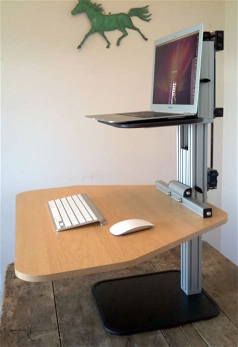 Kangaroo Standing Desk Imac by Ergodesktop S Kangeroo An Adjustable Stand Up Desk