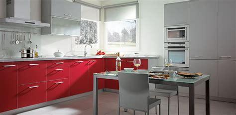 decoracion de cocinas en color rojo