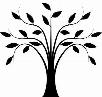Tree Abstract Leaves Clip Clipart Vector Clker