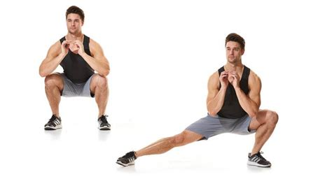 lunge side squat exercises form fitness weight jacks body jumping muscle proper
