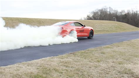 ford mustangs   lock burnout feature