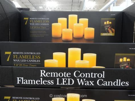 remote controlled flameless led wax candles