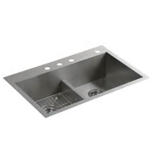 kohler k 3838 4 na vault smart divide double equal sink