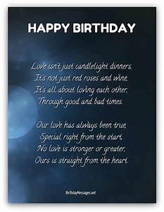 Happy birthday romantic poems for her