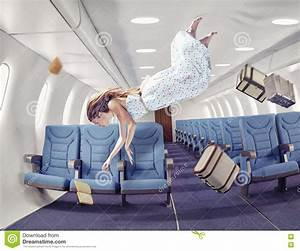 The Girl In An Airplane Stock Illustration