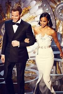 Chris Pine and Zoe Saldana---beautiful people being ...