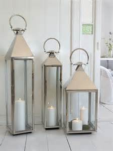 big stainless steel lantern xl the floor