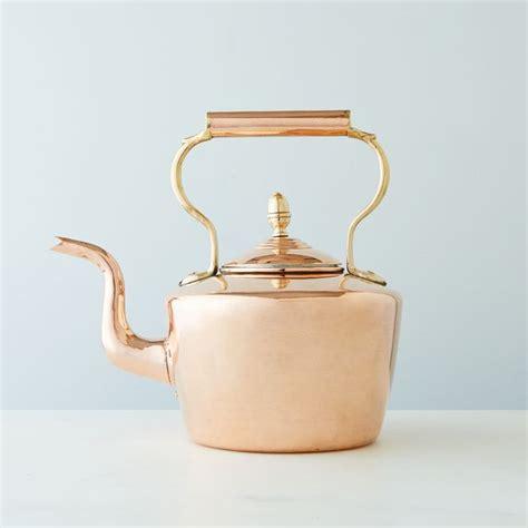 vintage copper  english tea kettle mid  century   copper tea kettle vintage