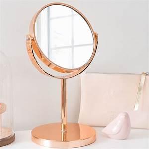 Miroir Cuivre Rose : miroir poser cuivr swaggy copper maisons du monde ~ Melissatoandfro.com Idées de Décoration