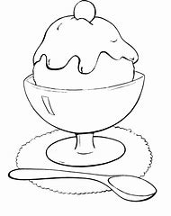 Chocolate Ice Cream Coloring Pages