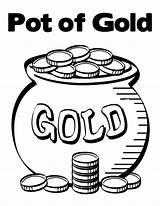 Coins Coloring Gold Pot Pages Contain Bunch Printable Getcolorings sketch template