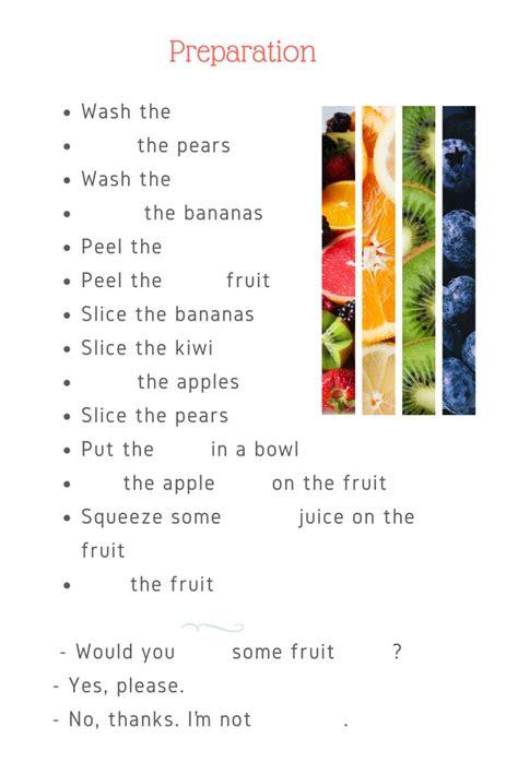 lets  fruit salad interactive worksheet