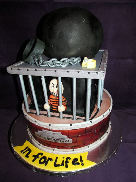 A Jail House Workers Grooms Cake Grooms Cakes And