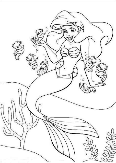 desenho novos da pequena sereia  colorir desenho