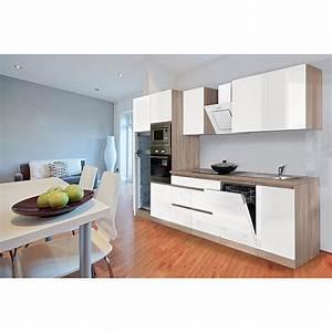 Küchenzeile Hochglanz Weiß : respekta k chenzeile glrp345heswgke breite 345 cm wei hochglanz 4157 fertigk chen ~ Orissabook.com Haus und Dekorationen