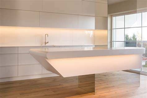 corian kitchen in floating appearance hasenkopf