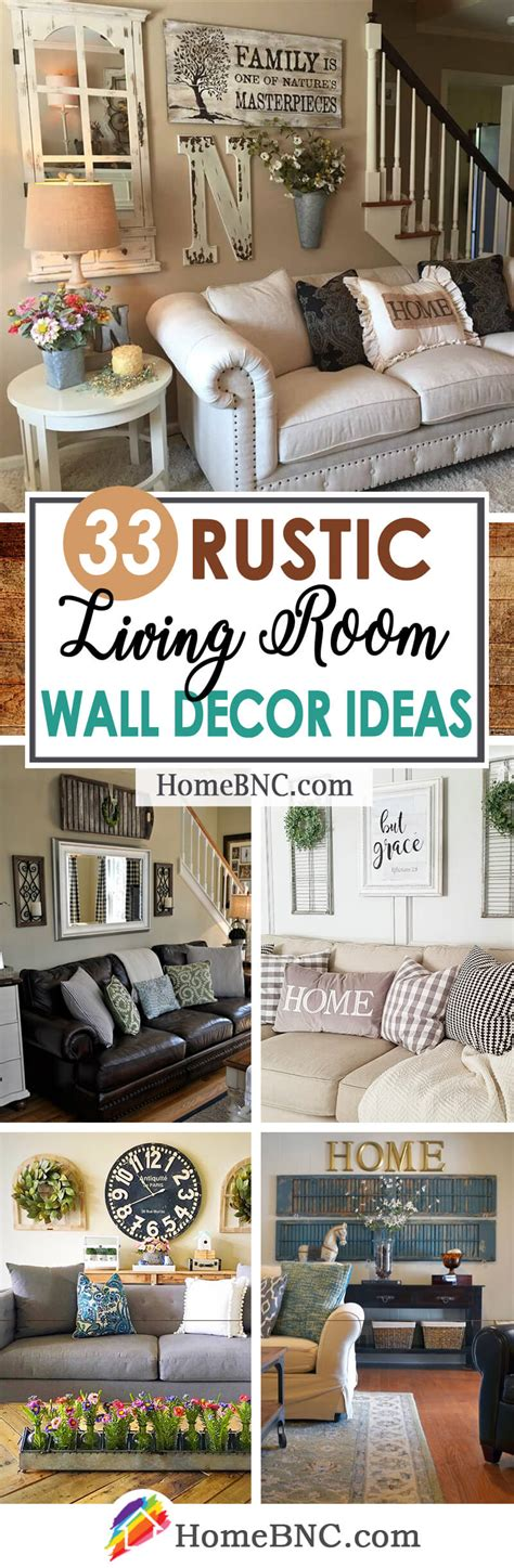 Living Room Decorating Ideas With Walls by 33 Best Rustic Living Room Wall Decor Ideas And Designs
