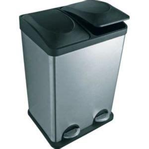 poubelle cuisine tri selectif 3 bacs poubelle tri sélectif à pédale 2 bacs 20l form duo castorama