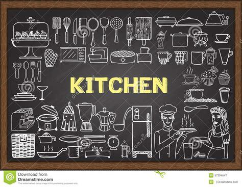 elements cuisine doodle elements vector illustration