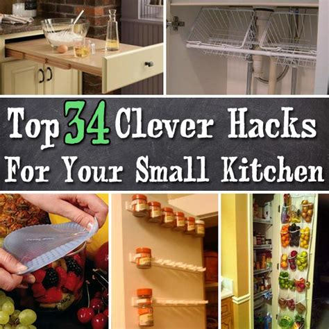 Kitchen Hacks by Top 34 Clever Hacks And Products For Your Small Kitchen