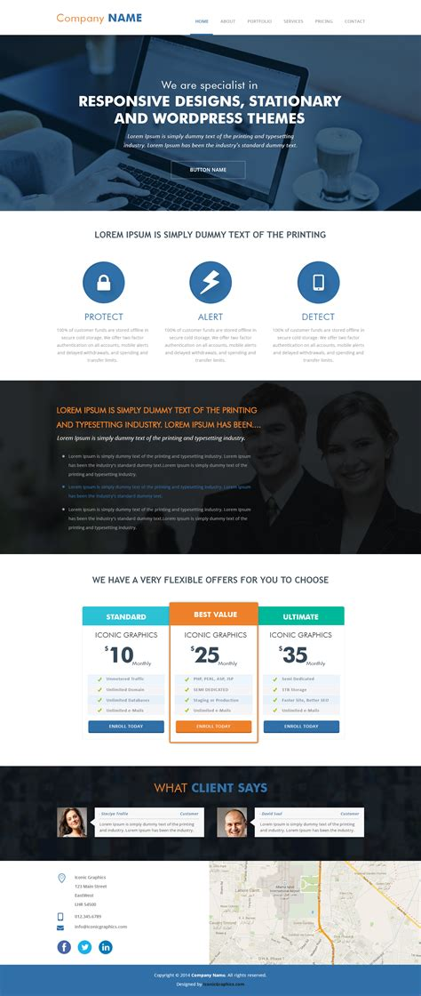 parallax website template parallax psd template