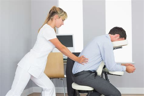 massaging office desk chair corporate wellness and coprorate health