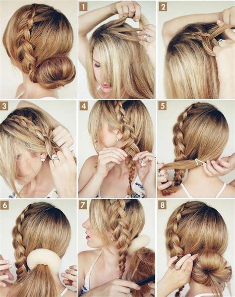 fancy easy hairstyles elegant hairstyle the big braided bun alldaychic